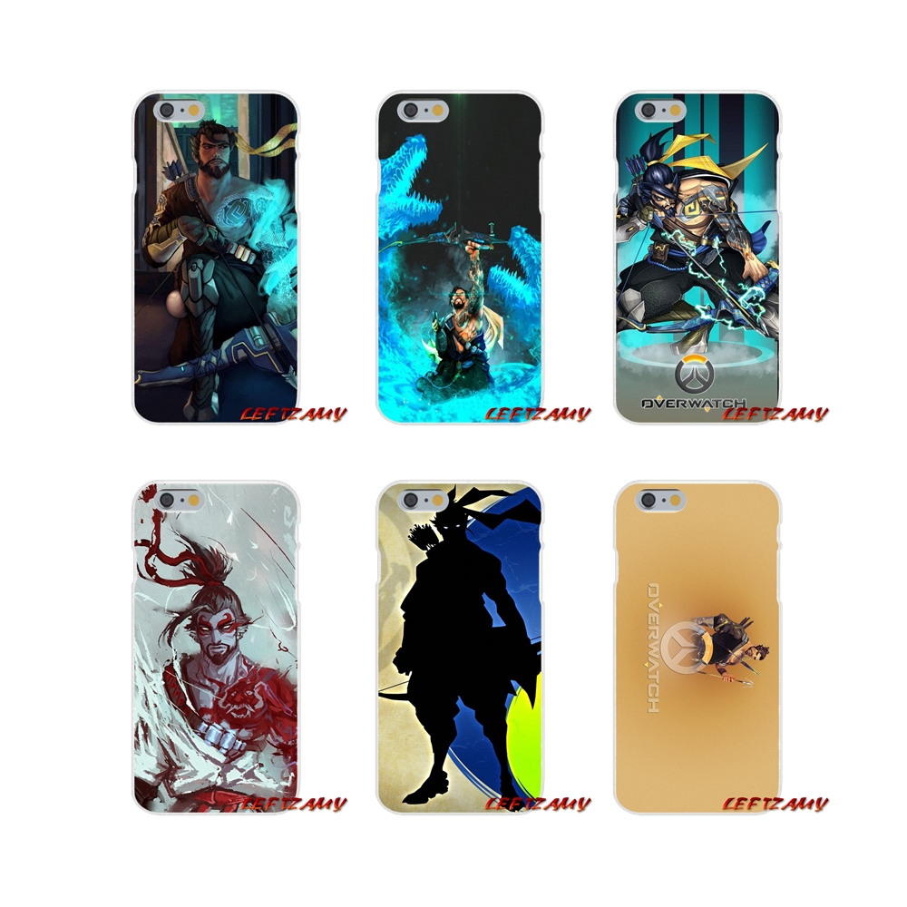 For Samsung Galaxy A3 A5 A7 J1 J2 J3 J5 J7 2015 2016 2017 Soft Transparent Cases Covers design game Overwatch OW Character Hanzo image