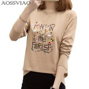 328166cb AOSSVIAO 2018 T Shirt Long Sleeve T-Shirt Tshirt Woman