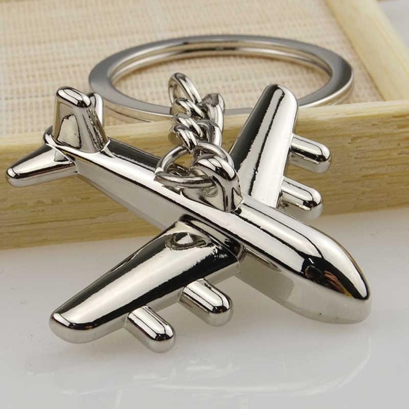 Nuevo llavero de avión único llavero de moda bolso de Metal colgante bolso hebilla llavero de coche accesorios de regalo