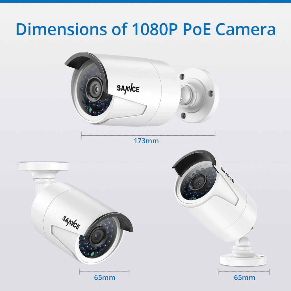 SANNCE 4CH HD 1080P HDMI P2P POE NVR 1 to HDD système de Surveillance sortie vidéo 4 pièces 2.0MP IP caméra sécurité à domicile Kits de vidéosurveillance