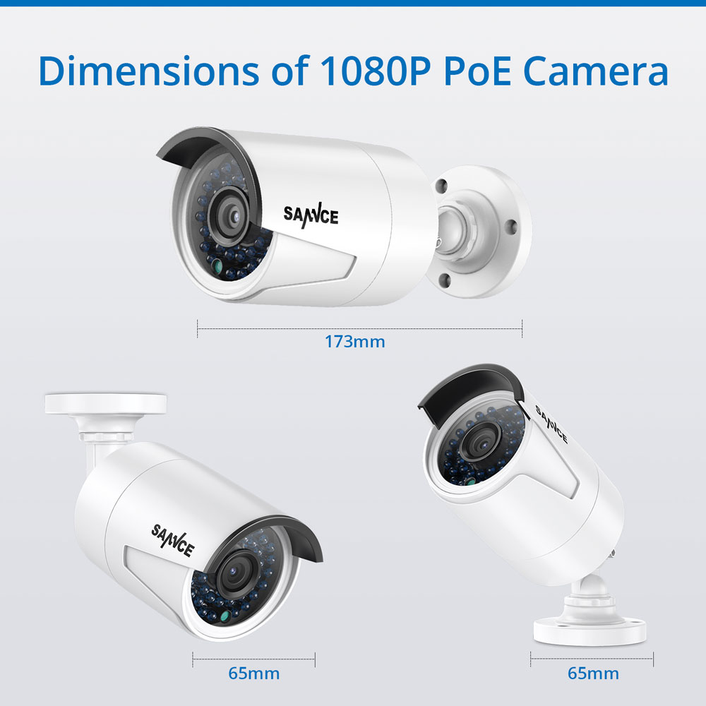 SANNCE 4CH HD 1080P HDMI P2P POE NVR 1TB HDD System nadzoru Wyjście - Bezpieczeństwo i ochrona - Zdjęcie 4