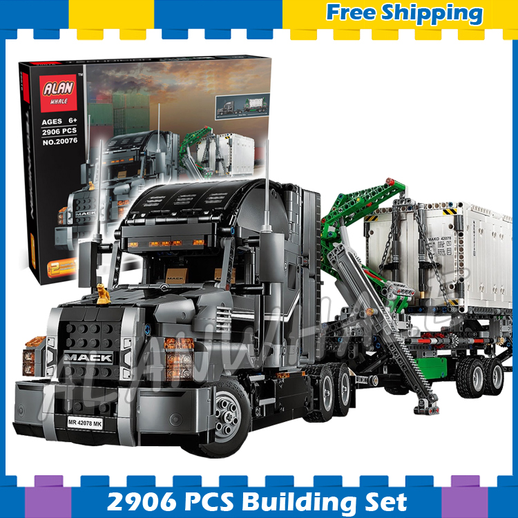 2906pcs 2in1 Techinic Advanced Mack Anthem Mack LR Garbage Truck 20076 DIY Model Building Blocks Gifts Sets Compatible With lego lepin 20076 technic series the mack big