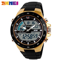 SKMEI 1016 Men Sport Dual Display Digtial Watch Chronograph Alarm LED Wristwatches Quartz 30m Waterproof Clock relogio masculino