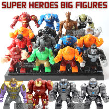 Super Hero Action Block Hulkbuster Carnage Thanos Batman Venom Iron Monger Whiplash Darkseid Gorilla Grodd Kids Educational Toys(China)
