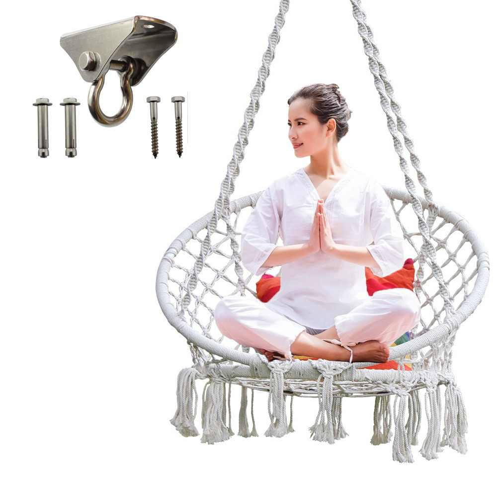 Swing Chair Yoga Exercise Hammock Chair Hanging Kit Swivel Hook For Hammock Swing Chair Stainless Steel Accessories Kit Indoor