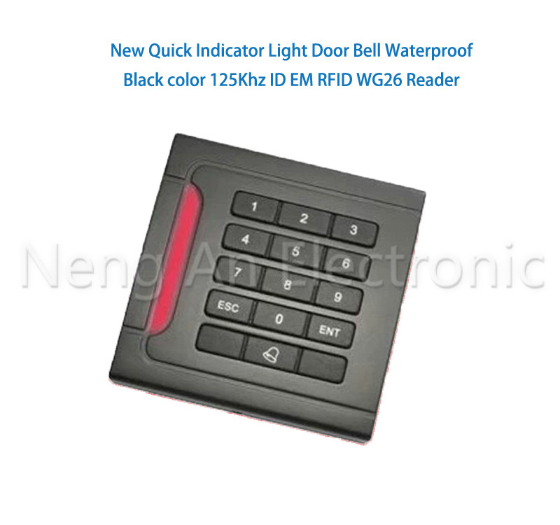 Red Index Light Waterproof Black color Beep125Khz RFID Reader  WG26/34 Readercard reader keyboard beep beep go to sleep