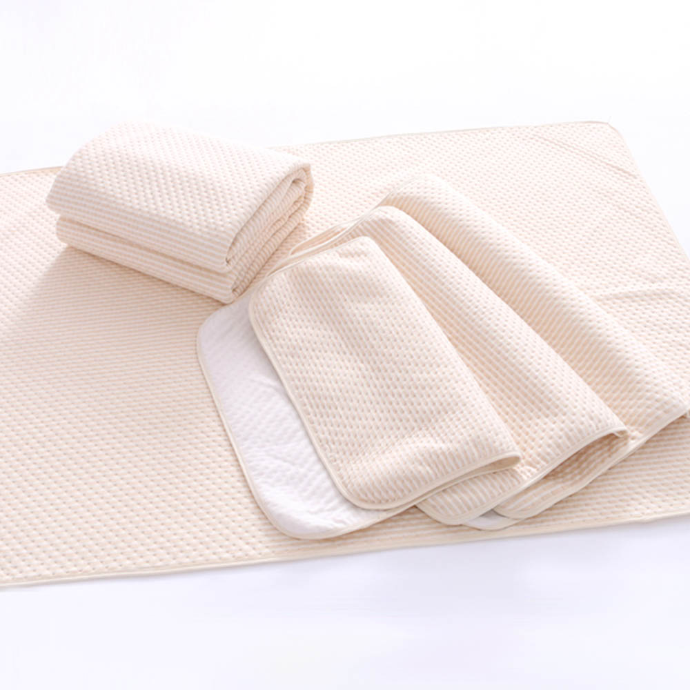 3 Size Waterproof Newborn mattress cotton Baby Organic colored Changing Urine Pad for NewbornInfant Child Bed Crib Sleeping image