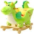 Kingtoy felpa bebé mecedora silla de los niños silla columpio de madera niños asiento de paseo al aire libre en cochecito mecedora juguete