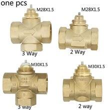 Válvula de latão de três vias dn15 dn20 dn25 m30x1.5 m28x1.5 válvula de duas vias