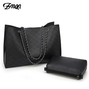 Image 2 - ZMQN Leder Taschen Für Frauen 2020 Luxus Handtaschen Frauen Taschen Designer Große Tote Hand Tasche Kette Leder Handtasche Set Bolsa feminina