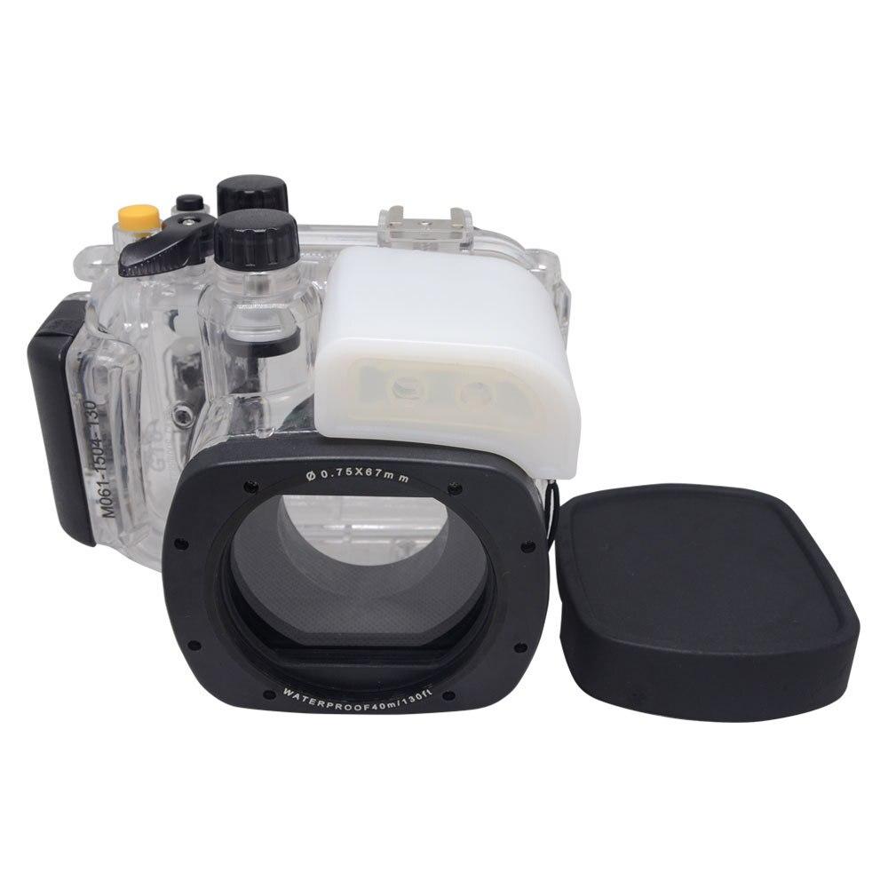 Mcoplus 40m/130ft Underwater Housing Waterproof Camera Diving Case for Canon PowerShot G16