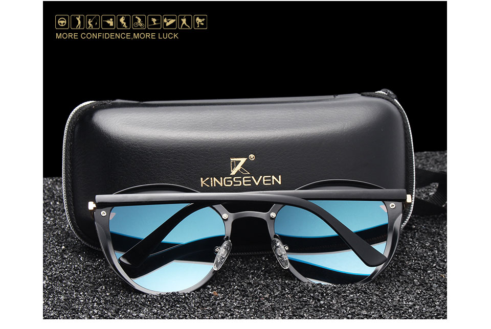 KINGSEVEN Fashion Female Polarized Sunglasses Women Cat Eye Glases Ladies Sun Glasses Mirror Original Accessories oculos de sol