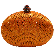 Heart oval shape popular hardcase evening handbags small evening clutches and mini evening bags for wedding