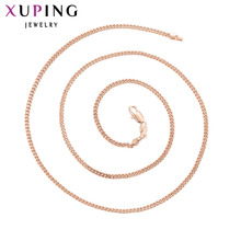 11.11 Xuping Fashion Elegant Necklace Rose Gold Color With Environmental Copper For Women Thanksgiving Jewelry Gift S91.7-44687