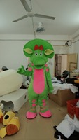Hot Sale fashion new arrival green dragon mascot costume party costumes fancy barney mascot dress costumes outfit