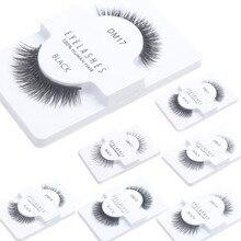 1 Pair Black False Eyelashes 100% Human Hair Strip Lash Fake Eye Lashes DM11-DM19