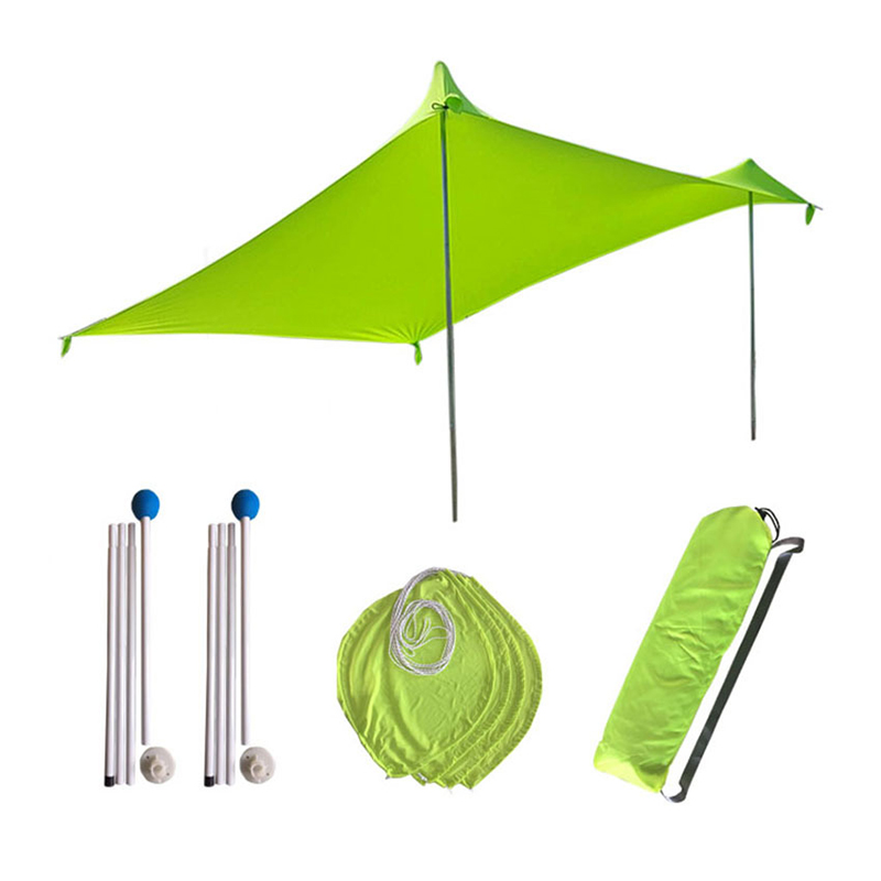210x210Cm Outdoor Beach Kale Canopy Shade Tent Camping Cool Sunscreen Uv Canopy Portable Camping Fishing Tent-Green