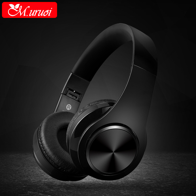 M.uruoi Headphones Bass Earpiece Bluetooth Handsfree Headset Music For MP3 Player Cordless Sport Stereo HIFI For Sony Earphone headphones blutooth 4 1 wireless foldable sport earphone microphone headset with tf card slot mp3 player music earphone earpiece