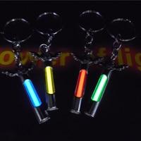 25 Years Tritium Gas Light Metal Key Ring Key Chain Automatic Luminous Fluorescence Glow Without Energy