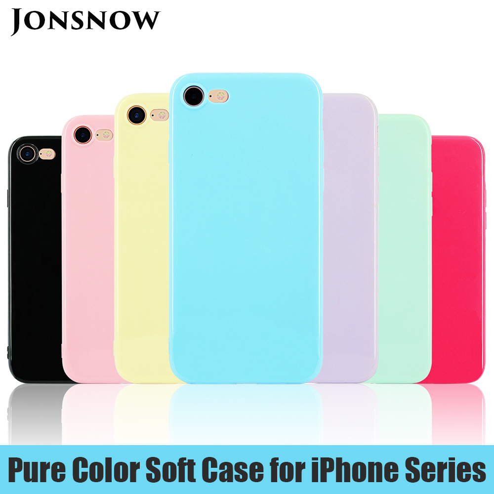 KIP71147_1_Smooth Pure Color Series Soft TPU Case for iPhone 7