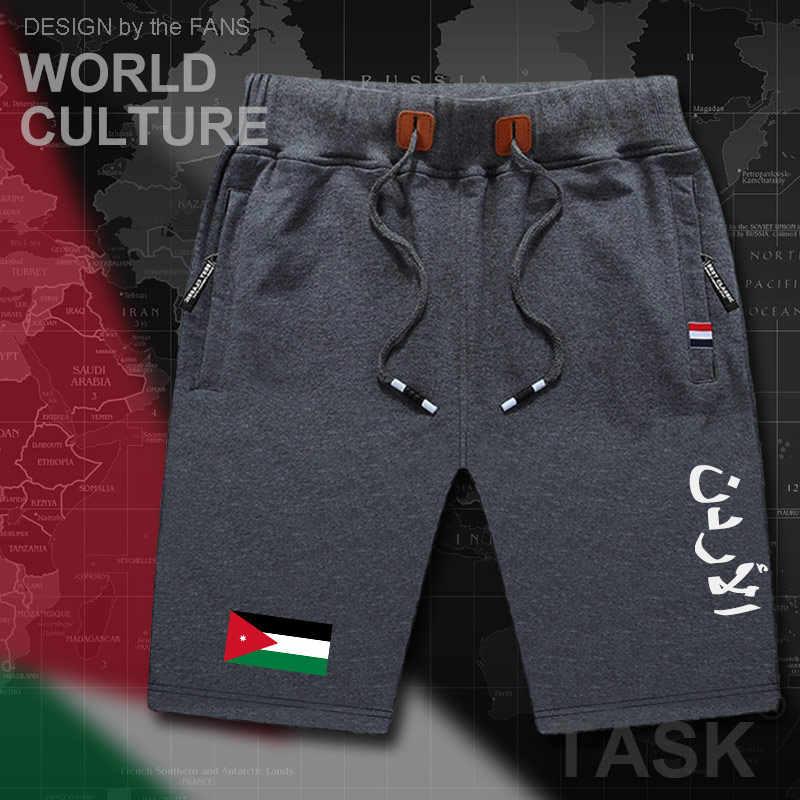 Jordan Jordanian mens shorts beach man men's board shorts flag workout zipper pocket sweat bodybuilding 2017 new JOR Arabic Arab