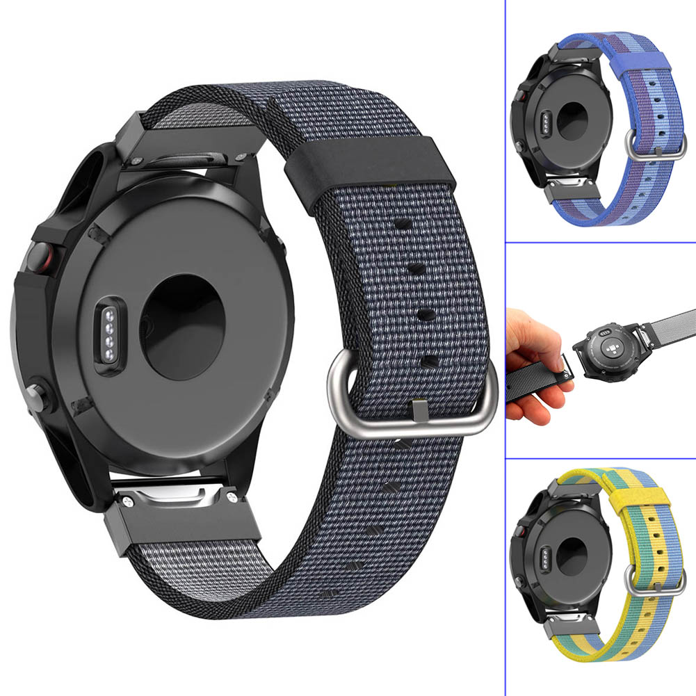 22mm Replacement Watch Strap Woven Nylon Wristband for Garmin Fenix 5 Forerunner 935 Approach S60 GDeals технический фен makita hg5012