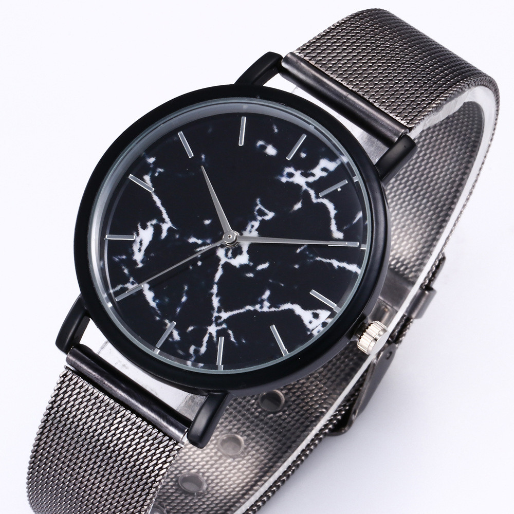 Men Luxury Casual Marble line Quartz Wristwatch Steel Strap Dress Watch Womens Bracelet Watch Relogio Feminino Reloj Mujer #20