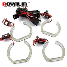 ROYALIN For BMW E90 E92 LED DRL Crystal Angel Eyes Headlights White Yellow Dual Turn Signal