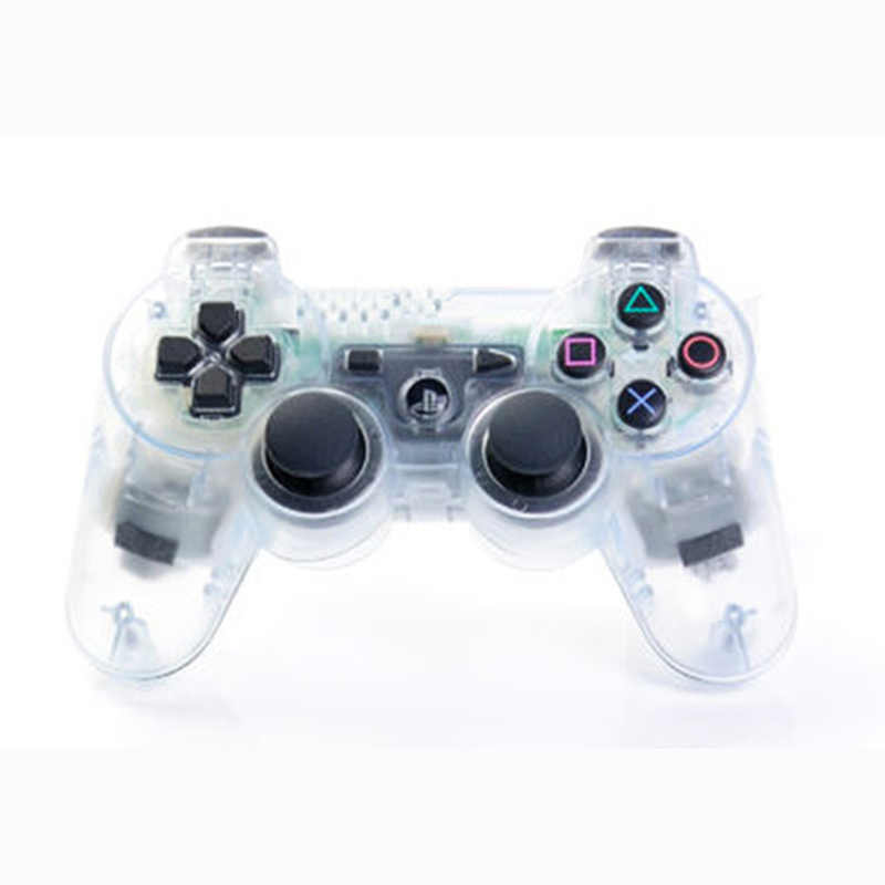 Wireless Bluetooth Transparent Color Controller For Sony Playstation Dualshock 3 Ps3 Controller Vibration Gamepad Aliexpress