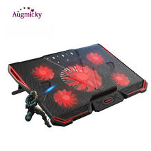 """Laptop cooler cooling pad with Silence 5pcs LED Fans USB 2.0 Adjustable Notebook Holder for macbook air Dell ASUS12""""13""""14""""15""""17"""""""