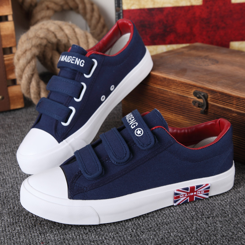Women Sneakers Running Shoes 2019 New Fashion Solid Breathable Canvas Sport Shoes Woman Hook & Loop Sneakers Women Shoes