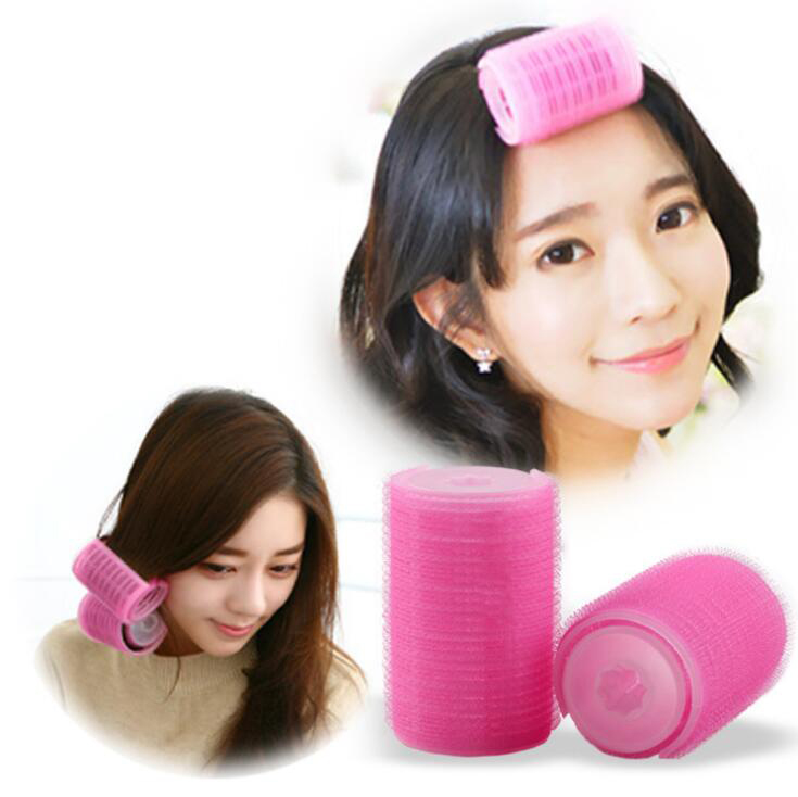 5/4.3cm hair curler Roll roller Twist Hair Care Styling stick Roller DIY tools harmless safe plastic for lady girls roseo wh