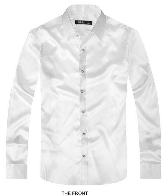 Popular silk dress shirt buy cheap silk dress shirt lots for Long sleeve silk shirt dress
