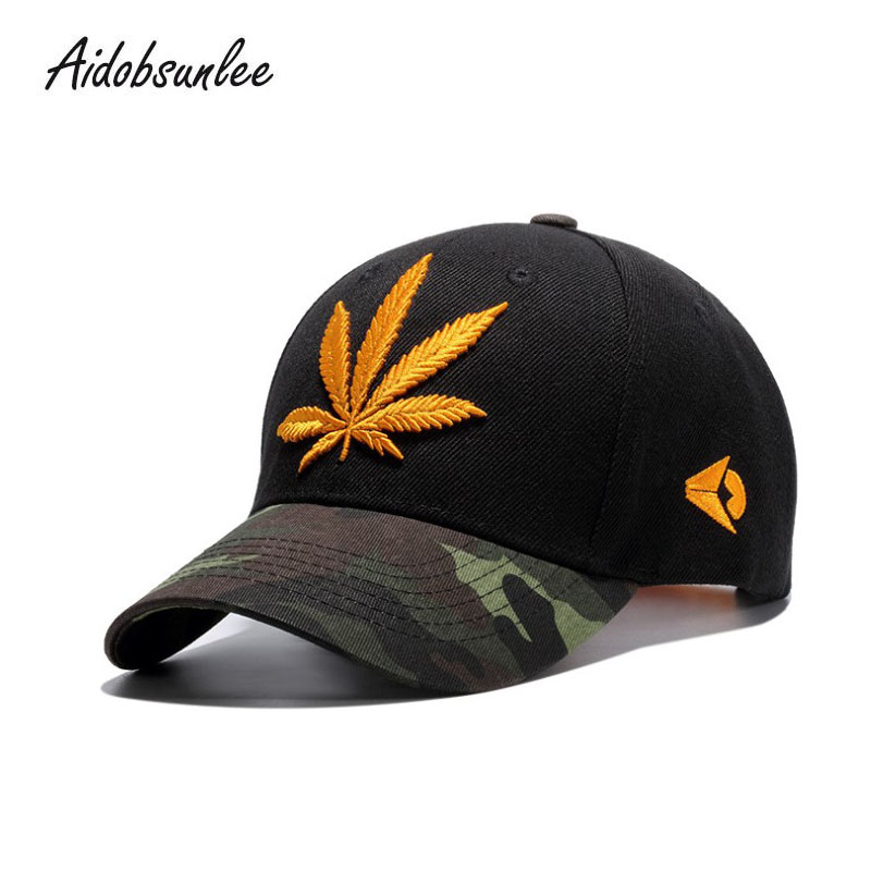 2018 New Arrival MEN'S HATS Hemp Leaf Embroidery Snapback Hat Baseball Caps Hip Hop Fallow Hat Flap Black Cap Adjustable Uniex bfdadi 2018 new arrival hat genuine