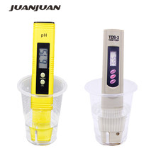 цена на high Accurate 0.01 Digital pH Meter Water Tester for Aquarium Pool Wine Urine+Filter Water Quality Purit Meter TDS Tester 50%off