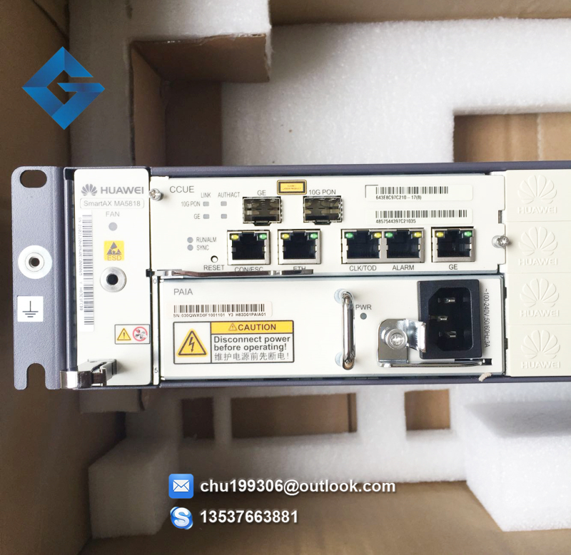 Networking Romantic Hua Wei Gpon Olt Ma5608t With 2*mcud+1* Mpwd 1*16 Ports Gpfd C+