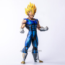 Tamanho grande Especial Anime Pintura Cor 26 CM DragonBall Dragon Ball Z Super Saiyan Vegeta PVC Action Figure Model Collection brinquedos(China)
