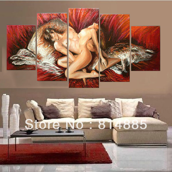 Red Color Painting Thick Textured Handpainted Modern Canvas Oil Wall Art Top
