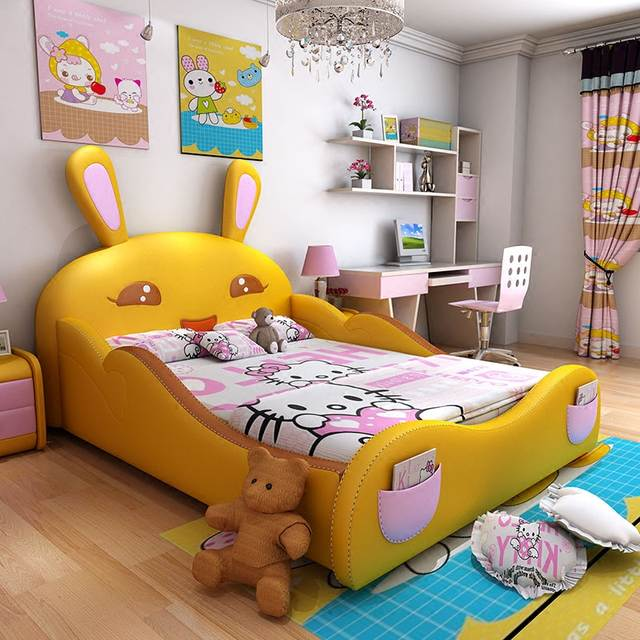 Us 4880 120cmx200cm 4sizes Kids Bedroom Furniture Modern Queen Size Double Bed Frame With 3 Colors Optional In Bedroom Sets From Furniture On