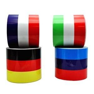 Image 2 - Автомобильная наклейка из ПВХ, 1 рулон, наклейка из ПВХ для всего кузова, декор огнем, виниловые наклейки, Франция, Германия, итальянский флаг для BMW, M Color