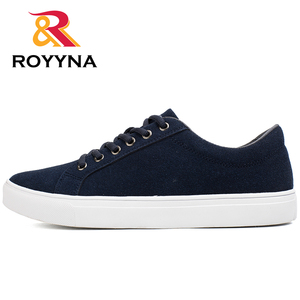 Image 2 - ROYYNA New Popular Style Men Casual Shoes Lace Up Men Flats Shoes Microfiber Comfortable Hombres Zapatos Slip On Free Shipping