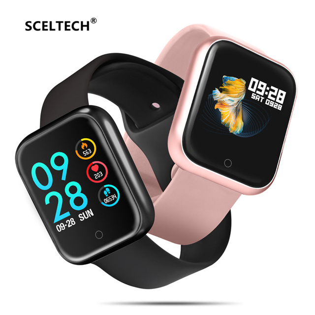 SCELTECH P70 חכם שעון Bluetooth 42 MM דם לחץ חמצן קצב לב צג ספורט Smartwatch עבור Apple IPhone IOS אנדרואיד