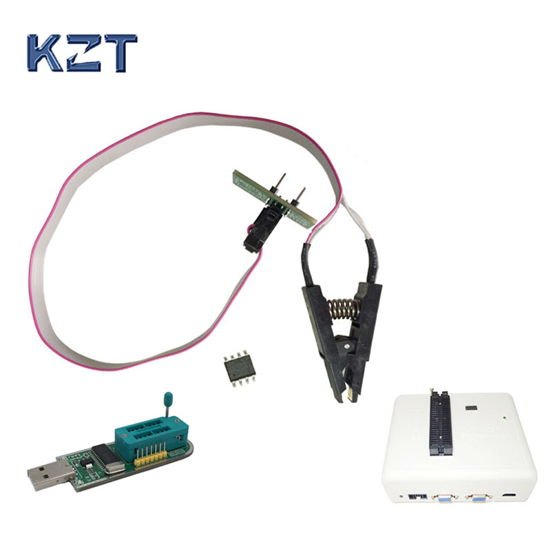 SOIC8 SOP8 Test Clip for in-circuit programming For EEPROM 93CXX/25CXX/24CXX on USB Programmer TL866 EZP2010 RT809H CH341A maxim 71m6521 6511 64 is offline on burning test tfp2 programmer private