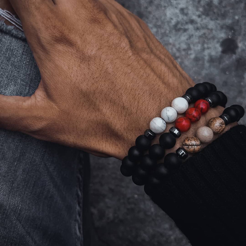 Stone Beads Bracelet Men Jewellery Summer Bracelets For Women Pulseira Friendship Accesorios Mujer Friends Charm Special Gift