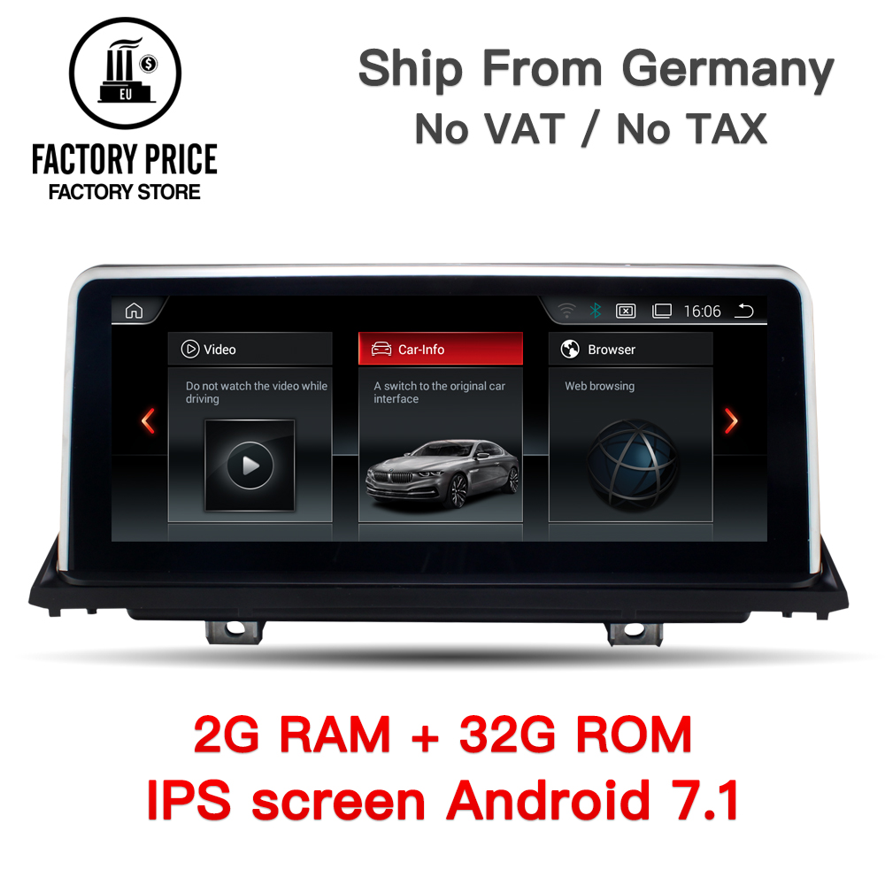 10.25 Quad Core Android 7.1 2g RAM/32g ROM Voiture multimédia interface pour BMW X5 E70 x6 E71 GPS Aide à la Navigation CCC