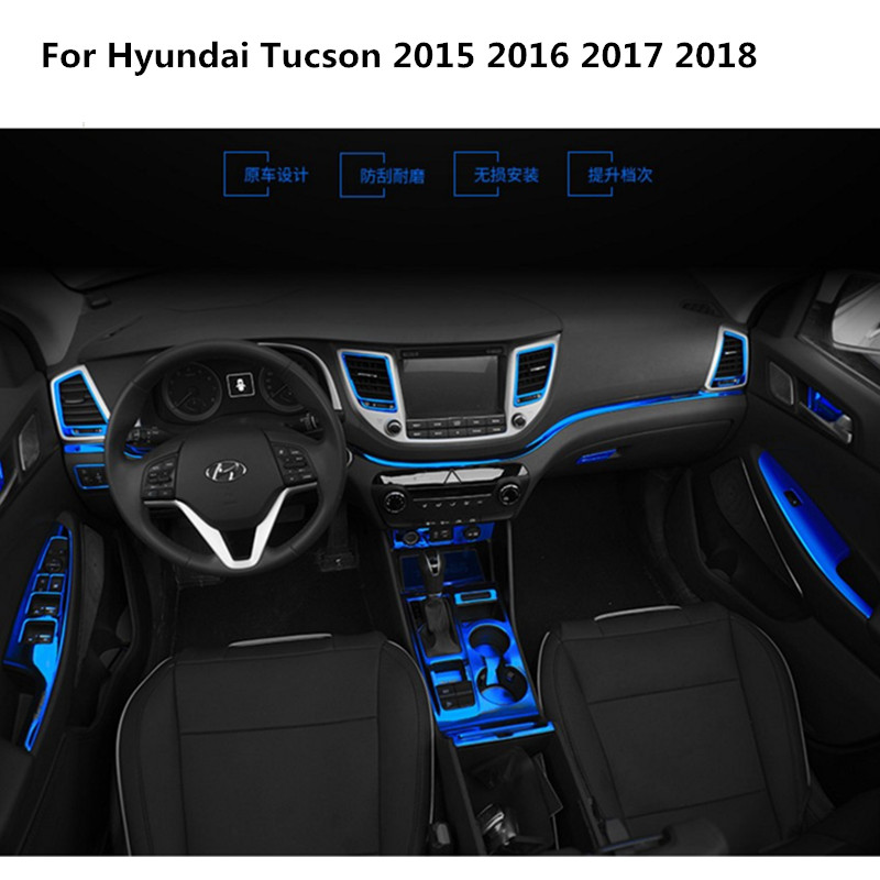 Car styling Modified accessories For Hyundai Tucson 2015 2016 2017 2018 Car  dashboard modified accessories