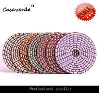 100mm Flexible Diamond Dry Polishing Pads For Dry Polishing Stone 4 Inch