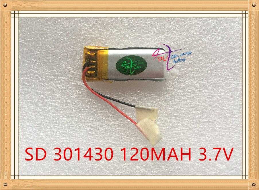 Tablet-akkus & Backup-stromversorgung L Energie 3,7 V Lithium-tablet Polymer Batterie 301430 120 Mah Bluetooth Lautsprecher Steelmate Echte Kleine Spielzeug Computer & Büro