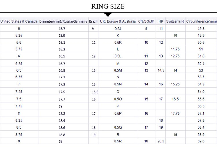women-ring-size