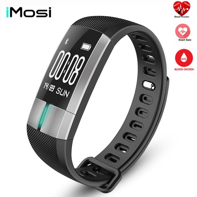 Imosi G20 ECG moniteur de fréquence d'écoute en temps réel Bracelet intelligent Tracker d'activité de Fitness Bracelet de pression artérielle pulquadtro